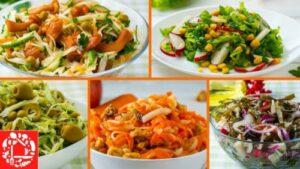 5 вкусных постных салатов на каждый день и на праздник
