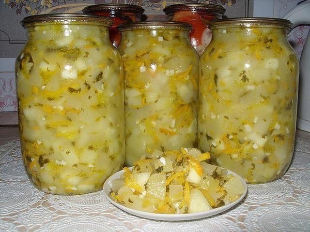 Салат из кабачков на зиму. Вкусный и бесподобный!