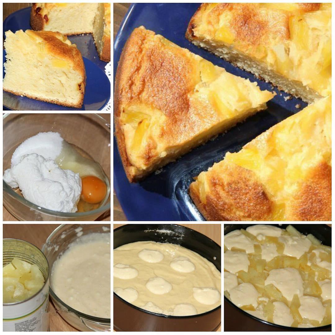 Творожный пирог с ананасами от Вероники Крамарь