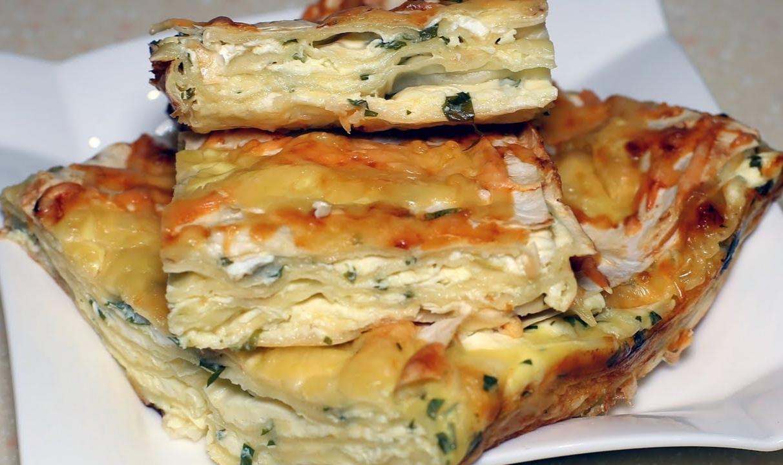 Банальный лаваш, а какая вкуснятина. Простой и быстрый сырный пирог из лаваша. (Видео рецепт)