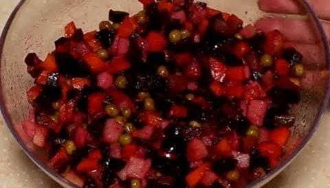 Винегрет классический рецепт.Быстро вкусно полезно.Салат без майонеза.Vinaigrette.