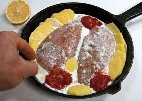 Нежнейшие куриные грудки, запеченные в сливках под сырной корочкой