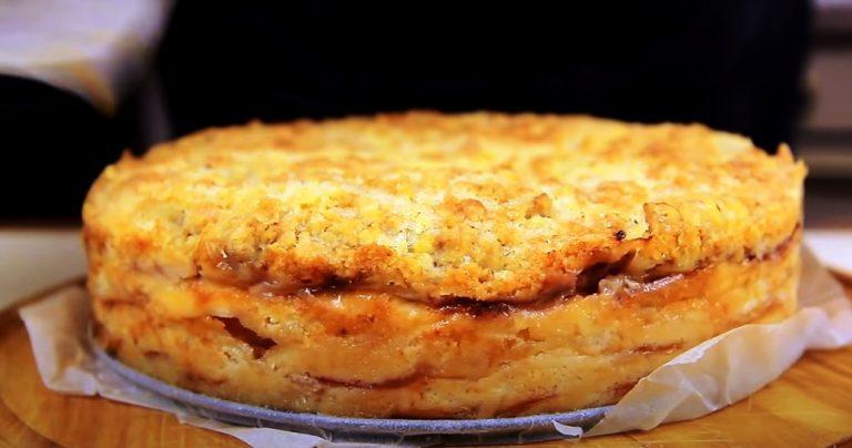 Насыпной пирог с персиками «3 стакана». Попробовала раз, по другому пироги больше не готовлю